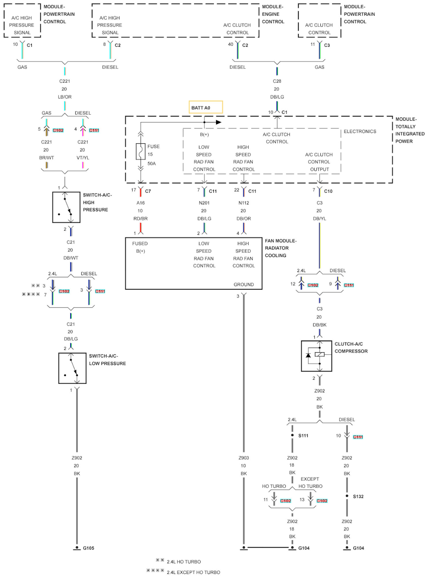 hight resolution of 2008 pt cruiser convertable low speed fan on after car offpt cruiser radiator fan wiring schematic