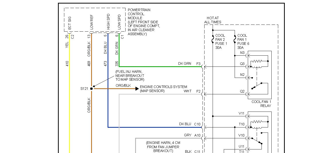 electric radiator fan wiring diagram national rv diagrams fans not working engine cooling problem 6 cyl front thumb