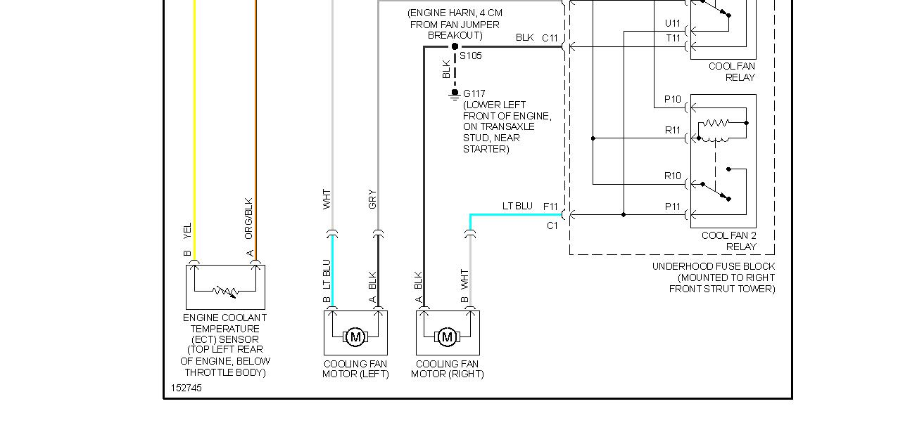 electric radiator fan wiring diagram honeywell heating controls diagrams fans not working engine cooling problem 6 cyl front thumb
