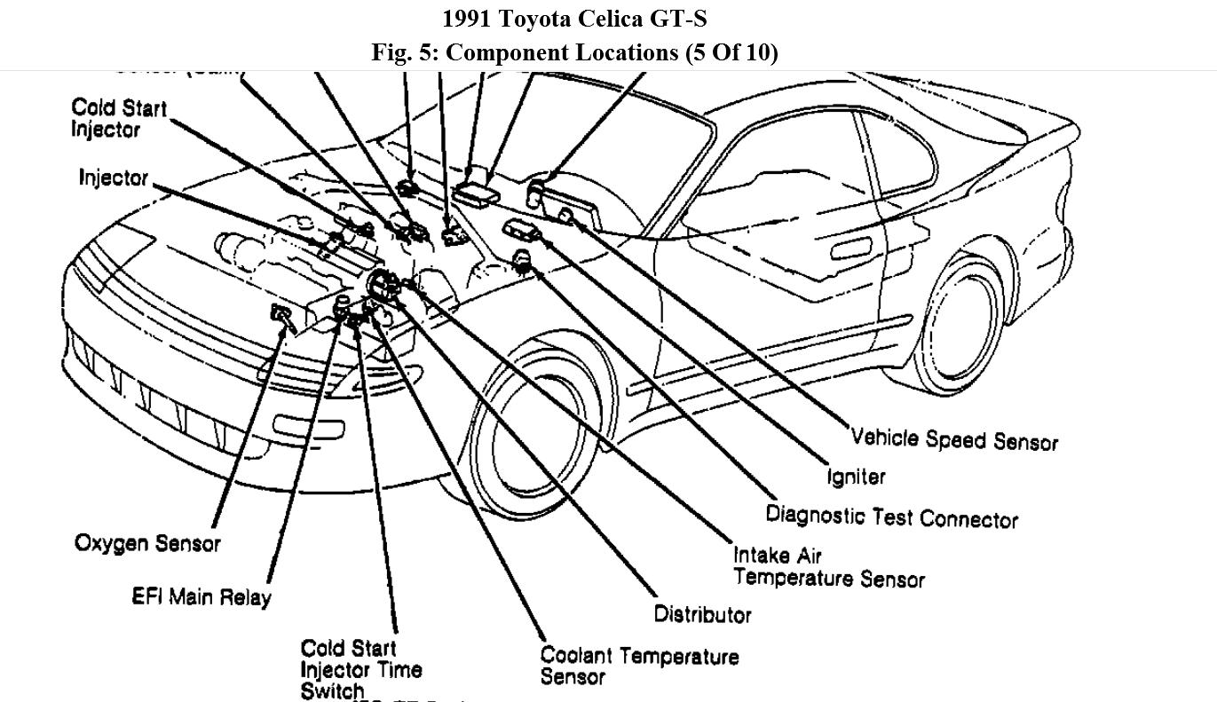 2002 Toyota Celica Engine Tubing Connection Diagram FULL