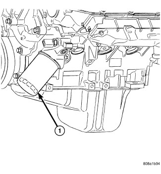 Oilfilter Location Jeep Liberty 2010: Location of the Oil