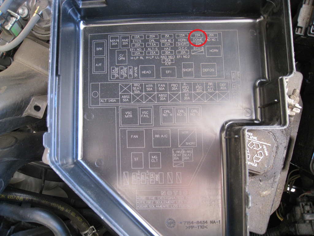 2006 Toyota Sienna Xle Engine Fuse Box Diagram