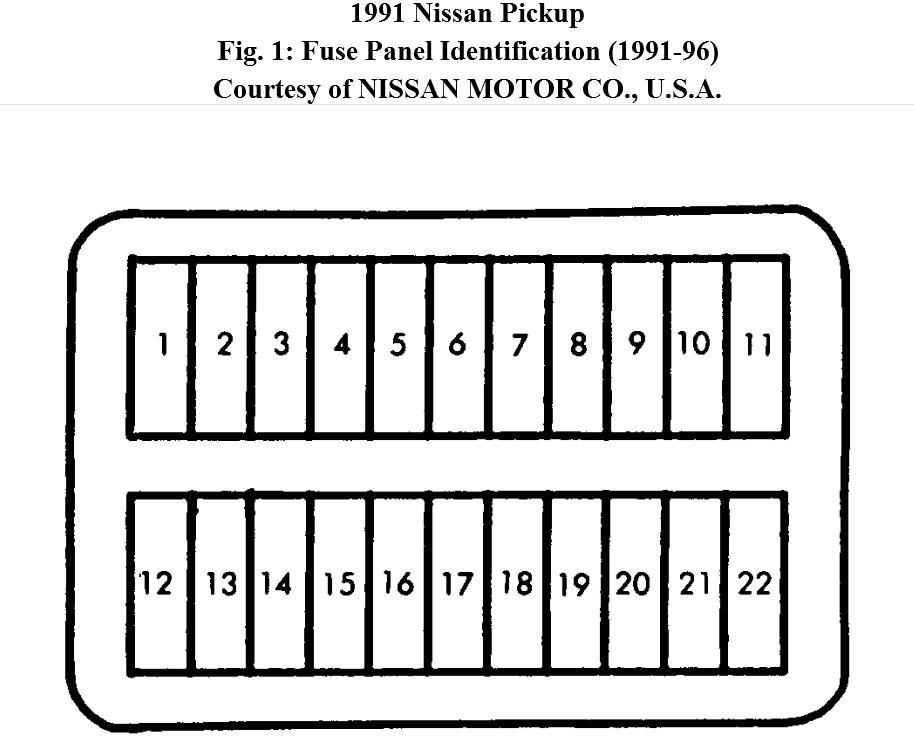 nissan hardbody fuse box diagram