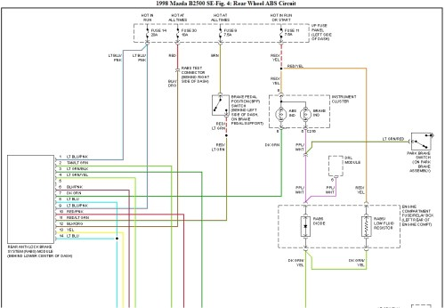 small resolution of 1998 mazda b2500 engine wiring diagram