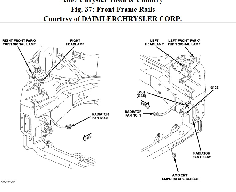 1999 Chrysler Town And Country Fan Relay Wiring Diagram