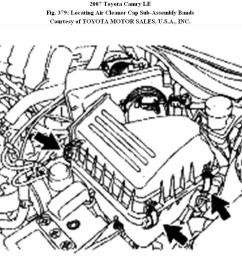 air filter 2007 camry v6 cannot get new air filter into blackcamry engine vacume diagram  [ 1141 x 828 Pixel ]