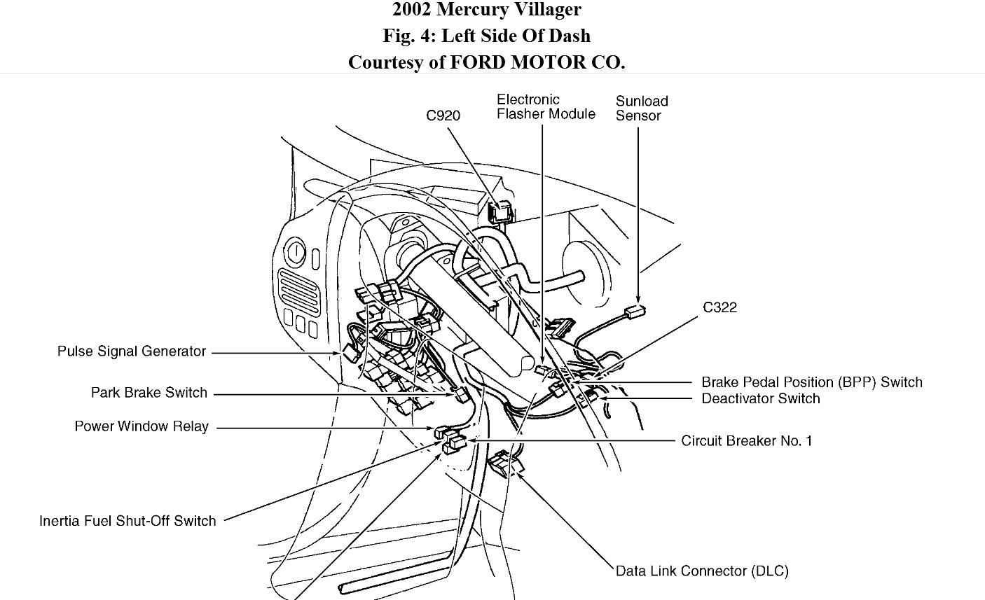 Ford Contour Mercury Mystique Original Wiring Diagrams