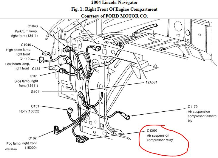 2003 Lincoln Navigator Air Suspension Wiring Diagram