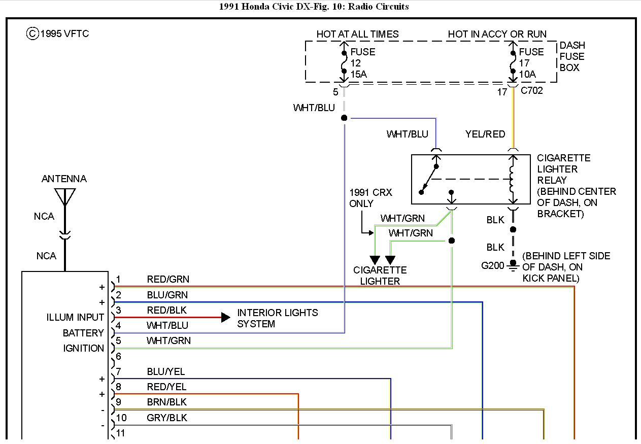 1991 Honda Civic Radio Wiring Diagram Ok I Have A Radio I'm
