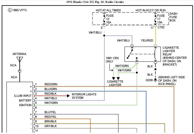 honda civic radio wiring diagram image 1996 honda civic lx radio wiring diagram wiring diagram on 97 honda civic radio wiring diagram