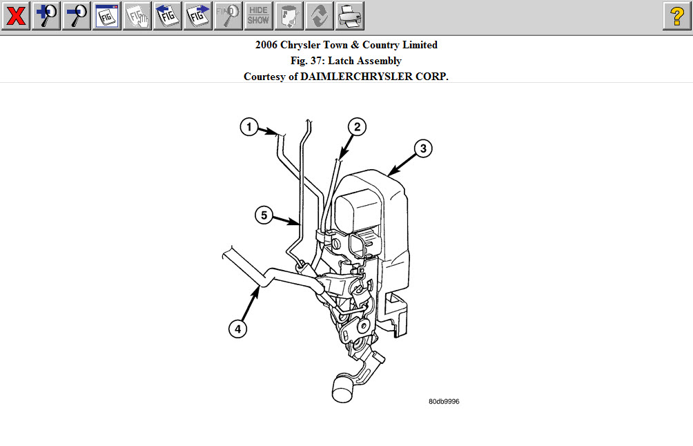 Chrysler T&C Door Handle: 2006 Chrysler Town & Country I