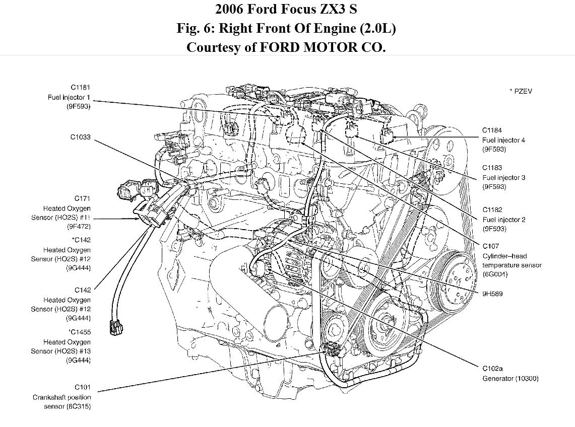 hight resolution of where is the crankshaft position sensor located 2012 ford focus cam sensor wiring diagram