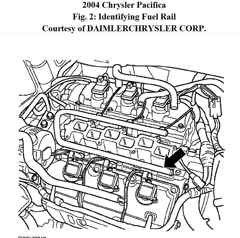 2004 chrysler pacifica engine diagram pride legend mobility scooter wiring where is the #4 fuel injector. do i find image or of...