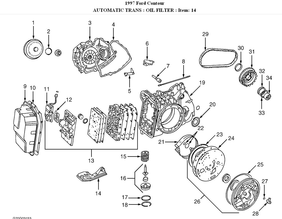 1999 Ford Contour Transmission Diagram. Ford. Auto Parts