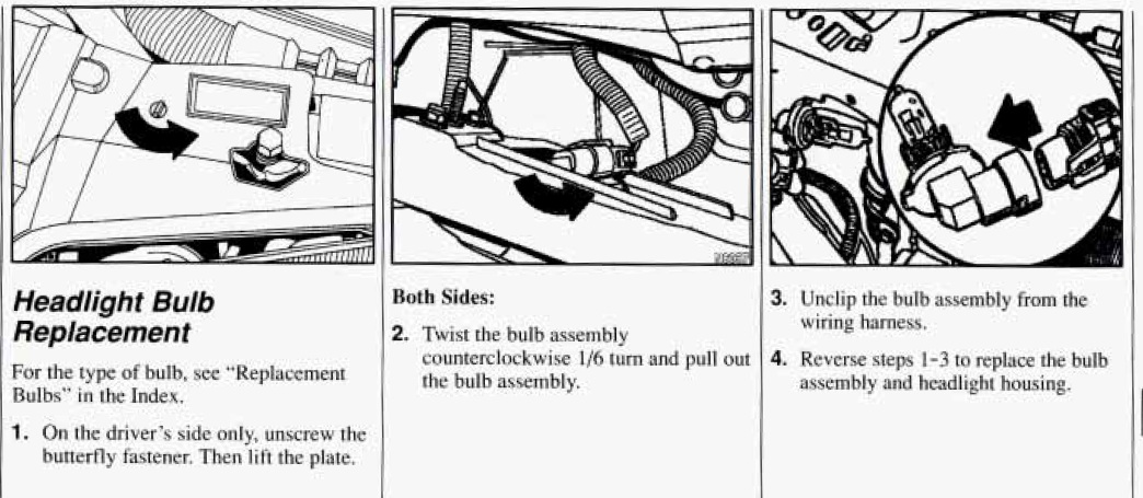 1994 Grand Am Headlamp Assembly Question: How Do You