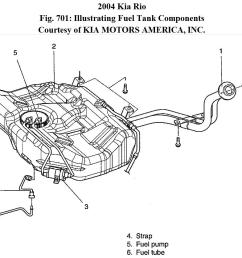 where is the fuel filter and how do i get it out2004 kia rio fuel filter [ 1147 x 837 Pixel ]