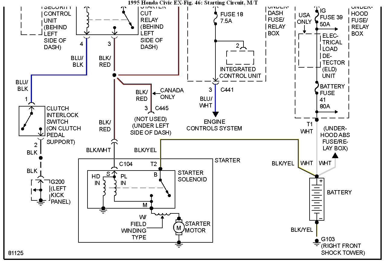 hight resolution of honda wont start i have a 1995 honda civic everything was finehonda civic starter wiring
