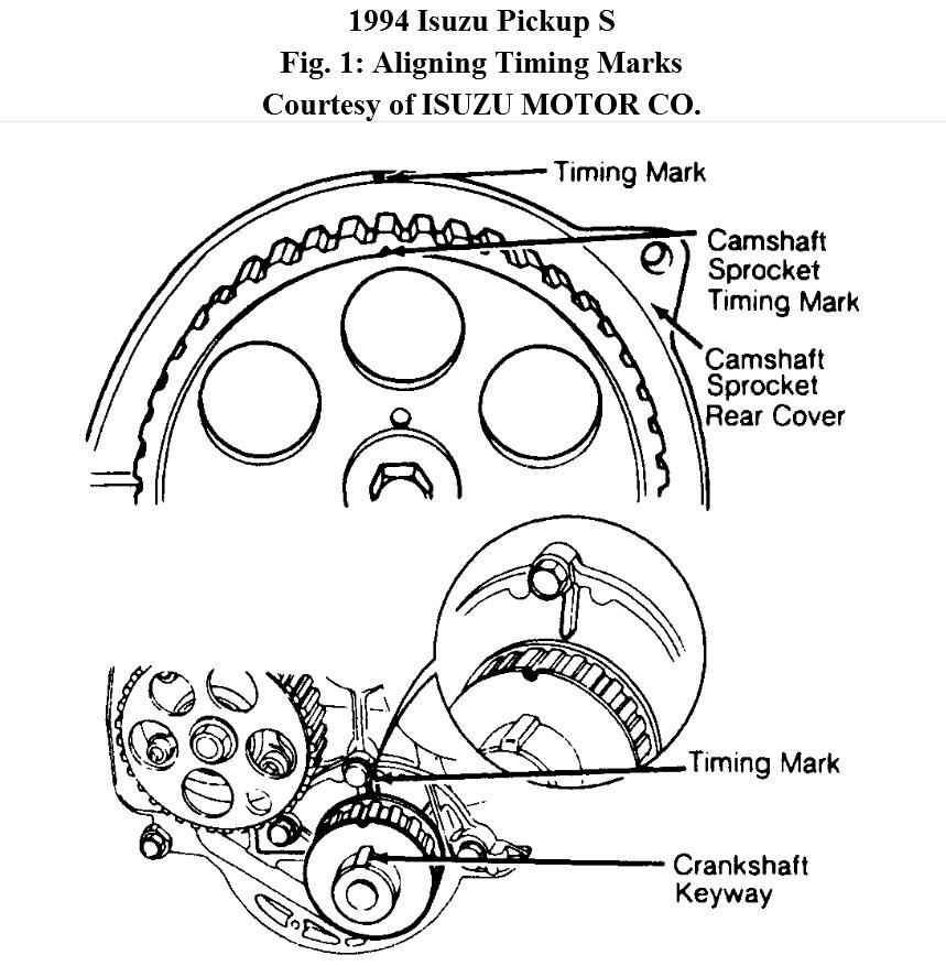 The Cam Gear Timing Mark Is at 1200 O Clock and the Crank