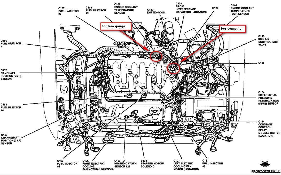 Ford Taurus Heater Hose Diagram On 2000 Ford Windstar