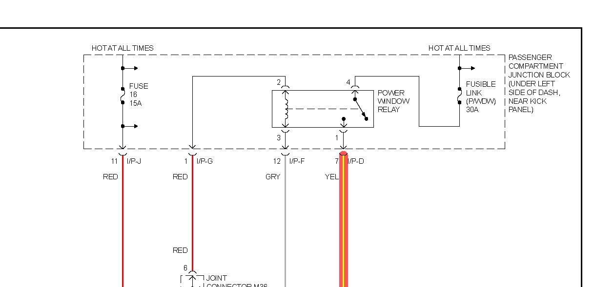 Power Windows: No Voltage Getting to Door Window Switch