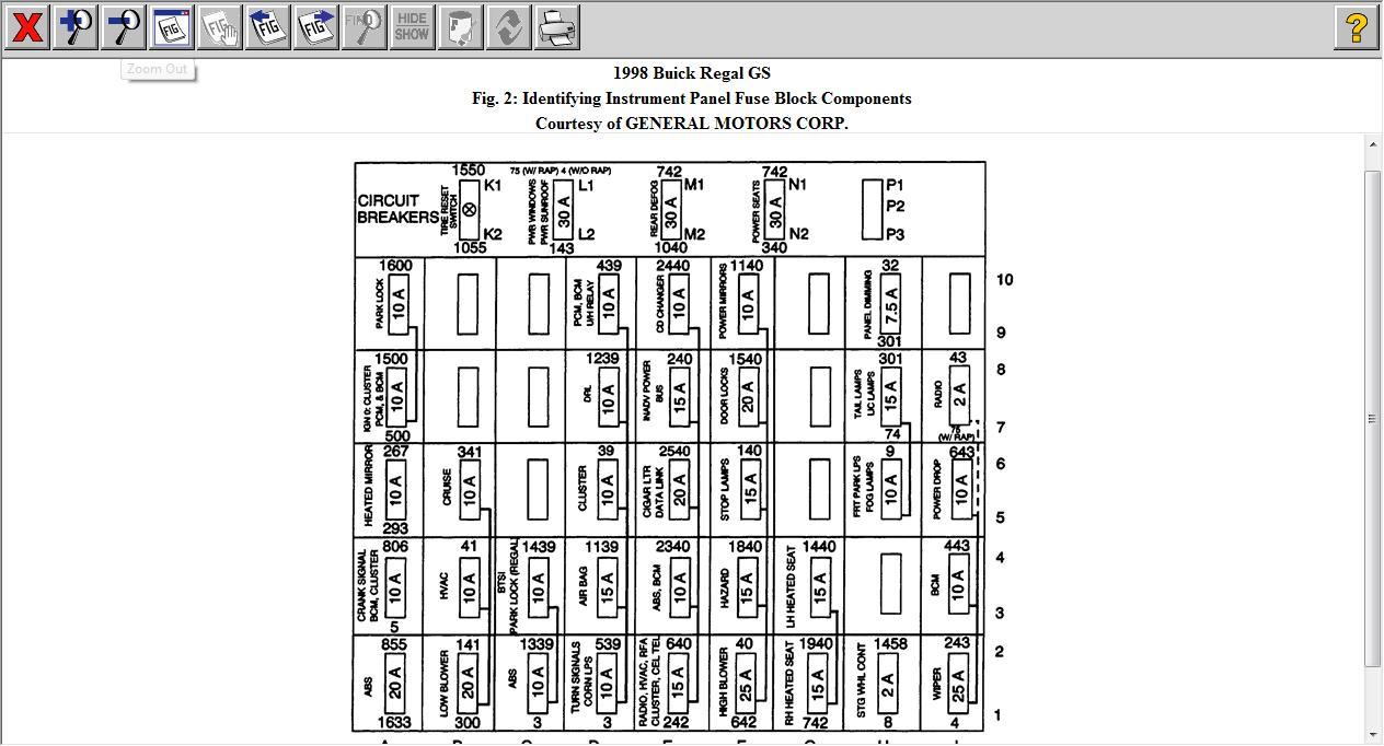 2004 Buick Regal Fuse Box Diagram On Horn Location 2003 Buick Lesabre