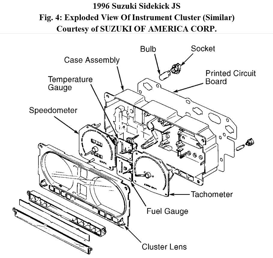 How to Change Instrument Cluster Bulbs on 1996 Suzuki