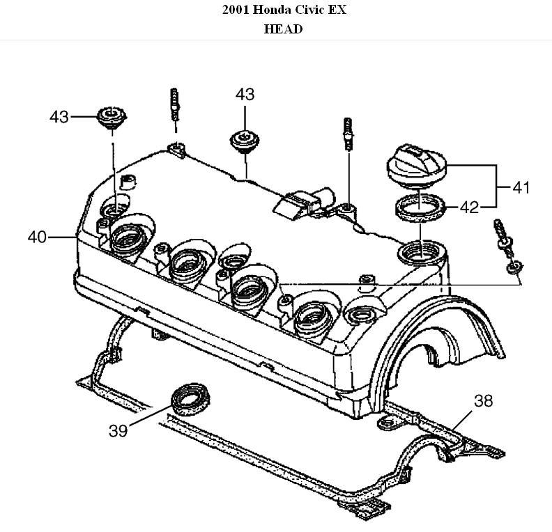 2001 honda civic 1.7 engine diagram