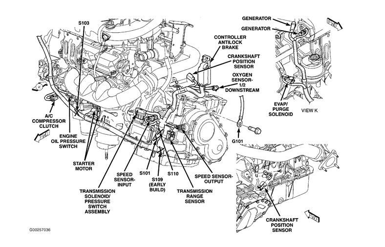 2004 Chrysler Crossfire Crankshaft Position Sensor