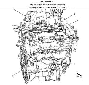2002 Suzuki Xl7 Engine Parts Diagram | WIRING DIAGRAM