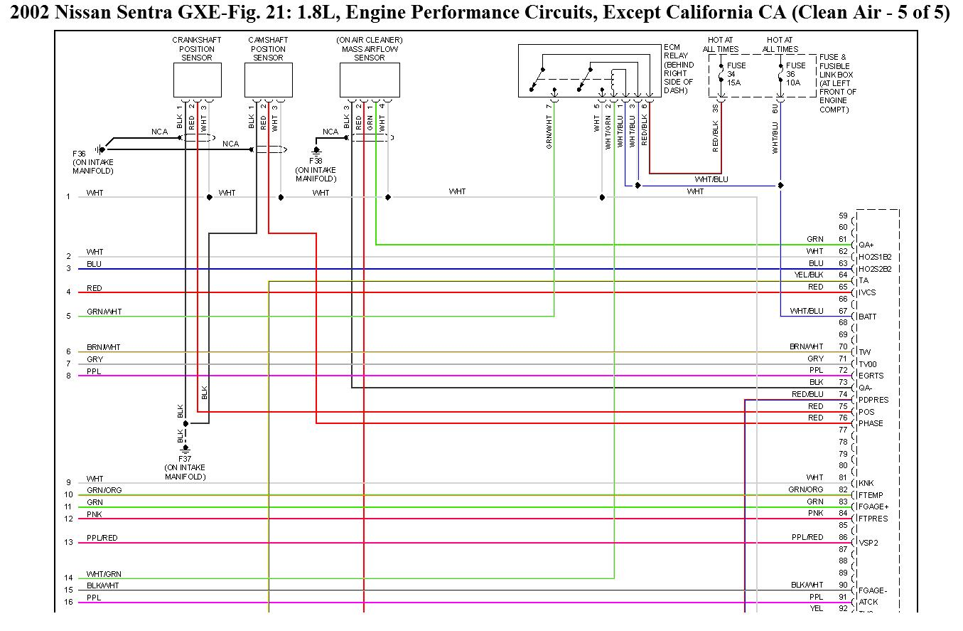 2002 nissan sentra stereo wiring diagram homeline load center wants a for qg18vvt ecu andtcu