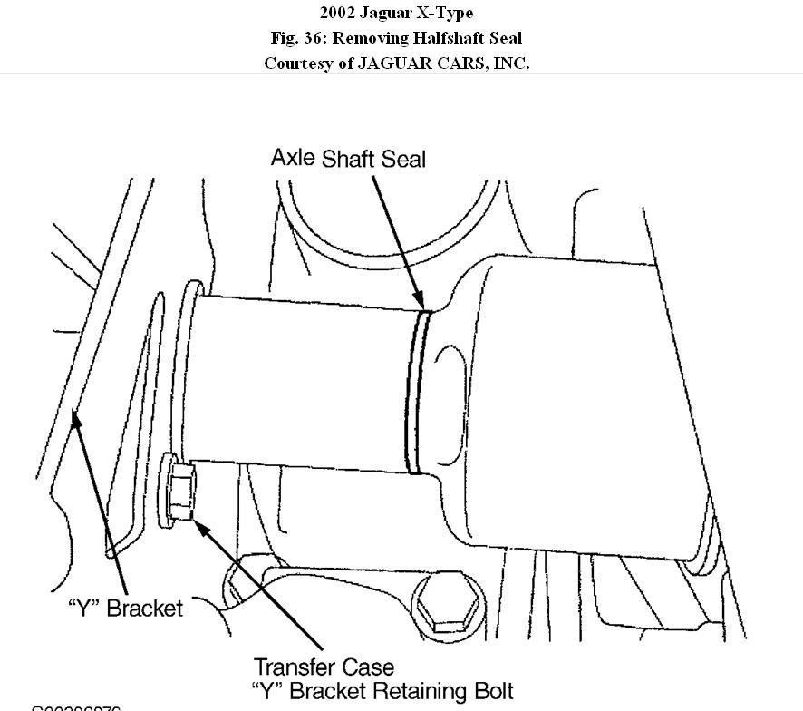 2002 Jaguar X-Type Removing Transfer Case: How Do I Remove