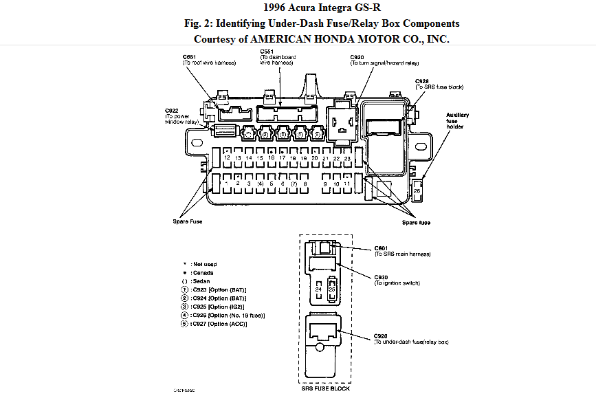 original 1994 acura integra wiring diagram integra headlight wiring diagram at gsmportal.co