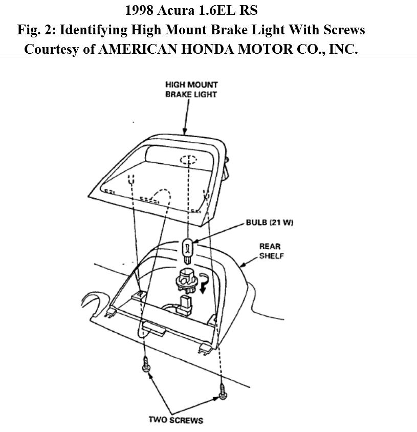 How Can I Change Bulb in Rear Dashboard Mounted Brake Light