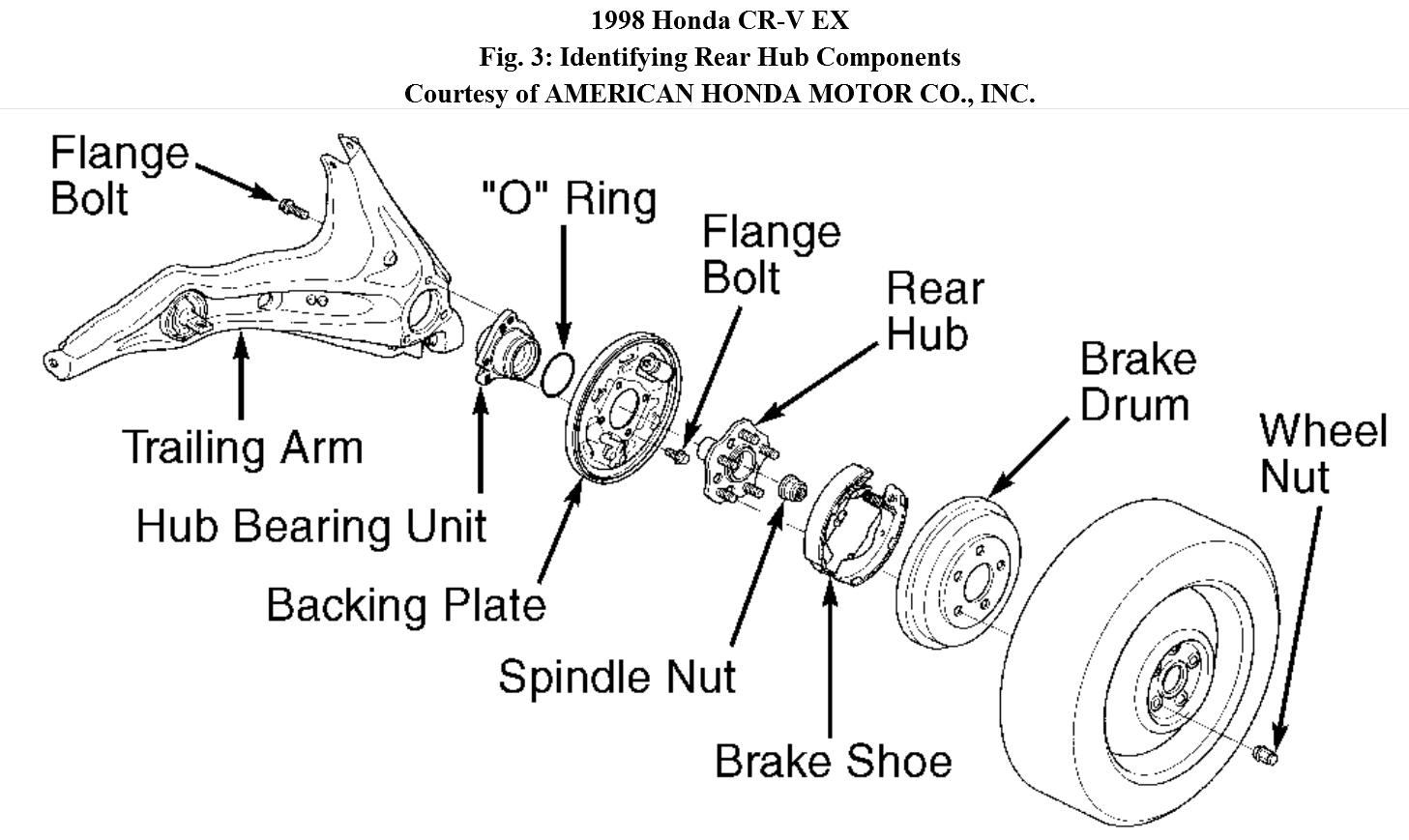 2002 honda crv parts diagram 2007 mazda 3 serpentine belt cr v rear suspension auto wiring