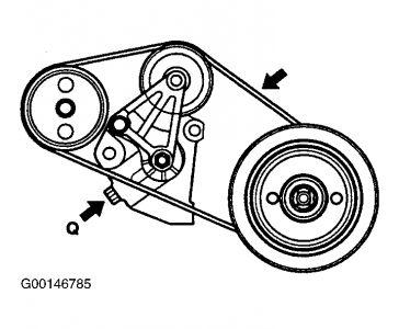 2005 Hyundai XG350 Changing Drive Belt: Electrical Problem