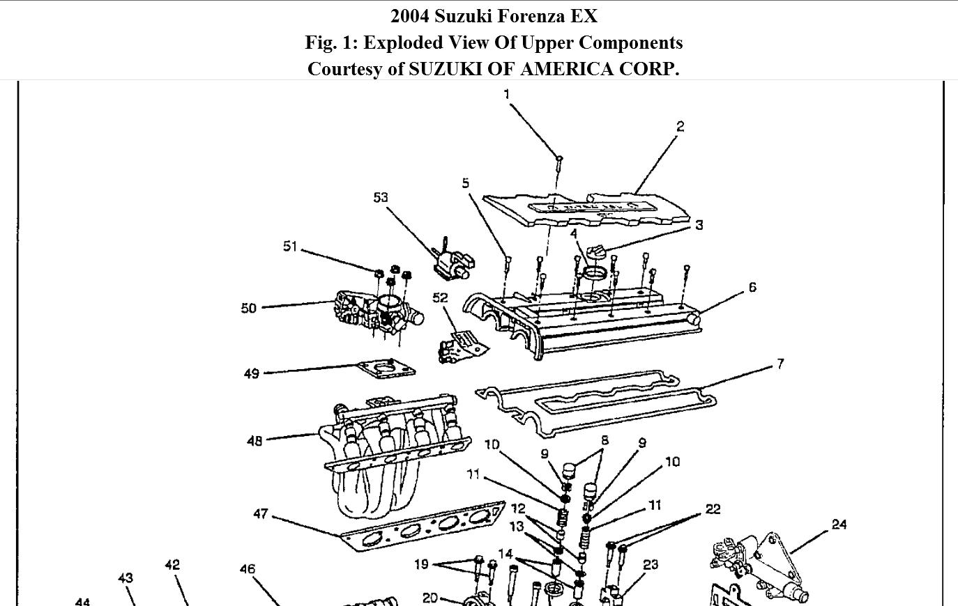 Service manual [Removing 2005 Suzuki Reno Rear Overhead