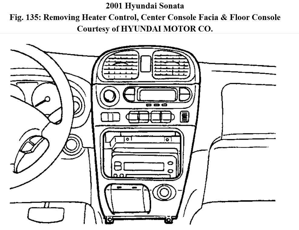 2006 Hyundai Sonata Center Console Diagram. Hyundai. Auto