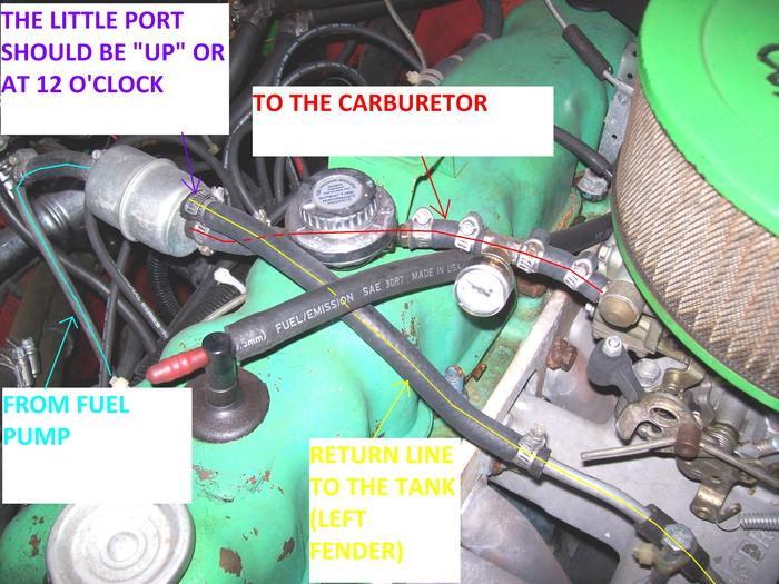 Amc 304 Jeep Engine Diagram Replaced With Electric Fuel Pump And Pump Works Great But