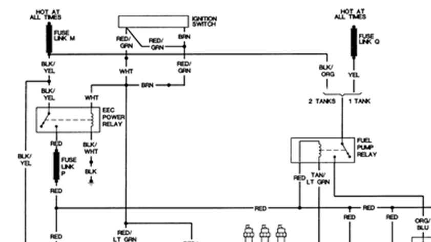 1988 E250 Van: Fuel System Fuse E250 1988 Van Want Start