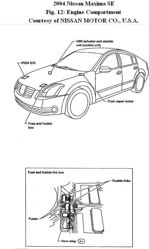 2004 nissan maxima fuse box diagram