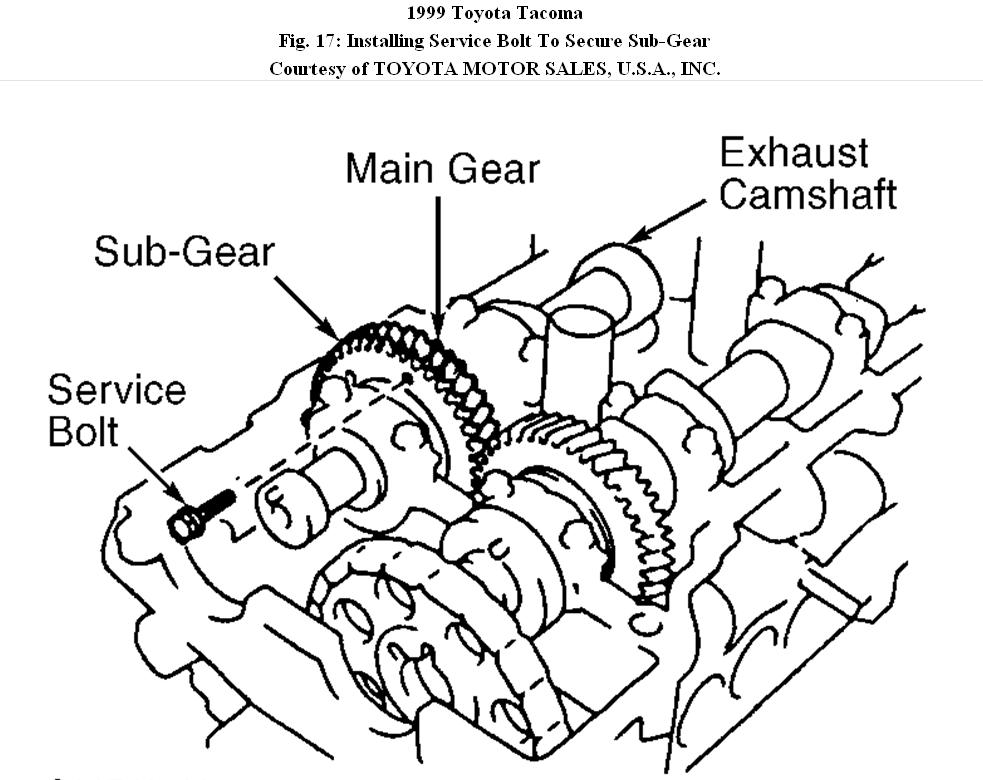 Removal of Power Steering Pump and Camshaft
