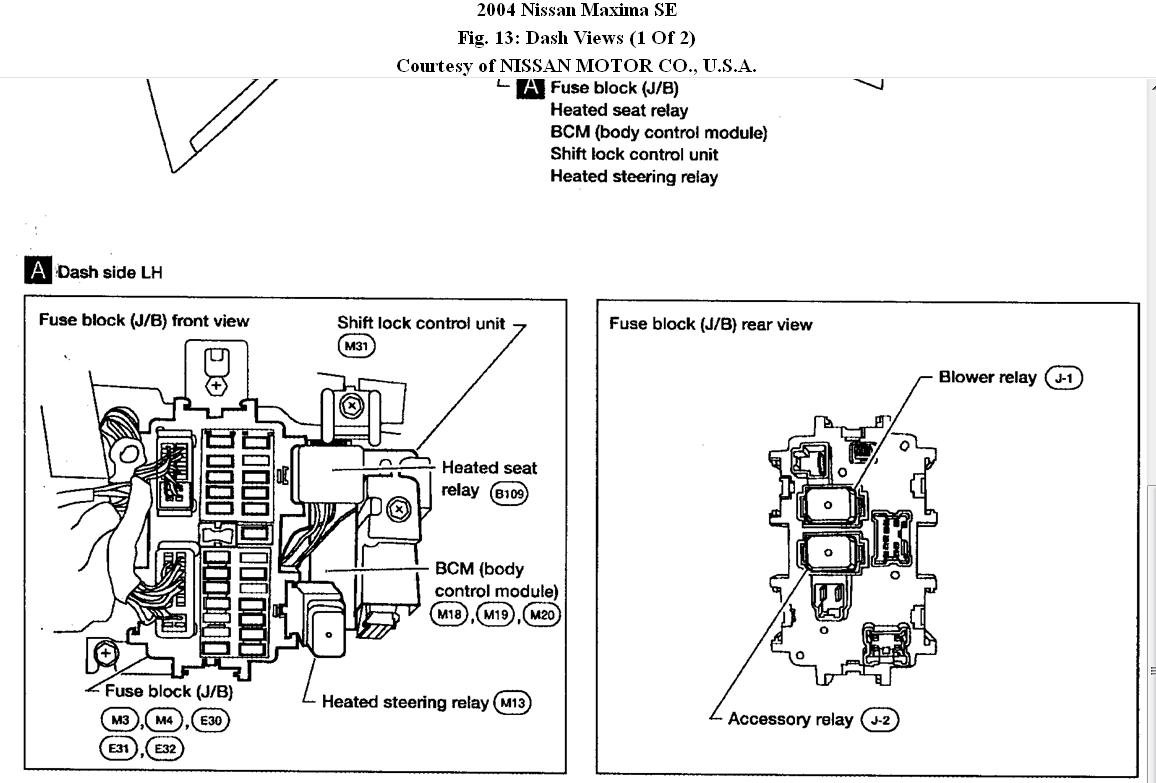 32 Nissan Maxima Fuse Box Diagram Under Hood