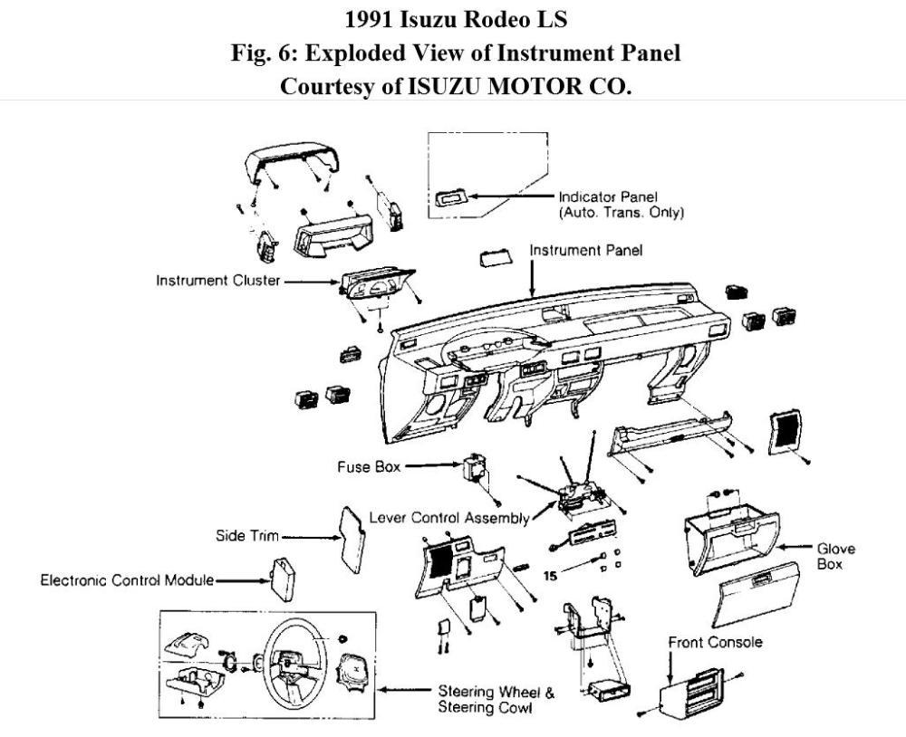 medium resolution of 95 isuzu rodeo fuse box diagram