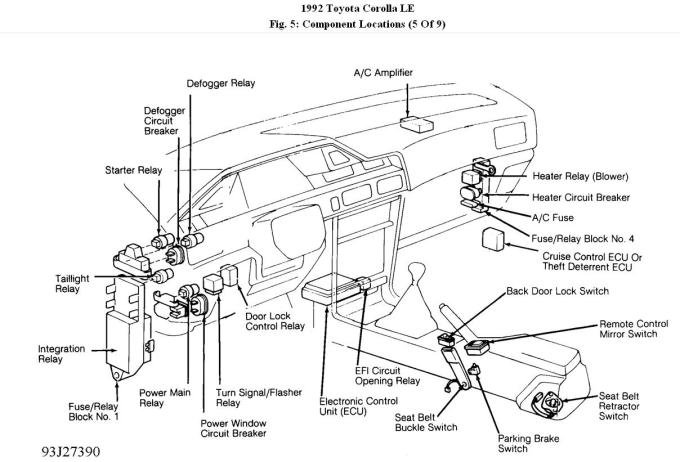 1993 Toyota Corolla Fuse Diagram