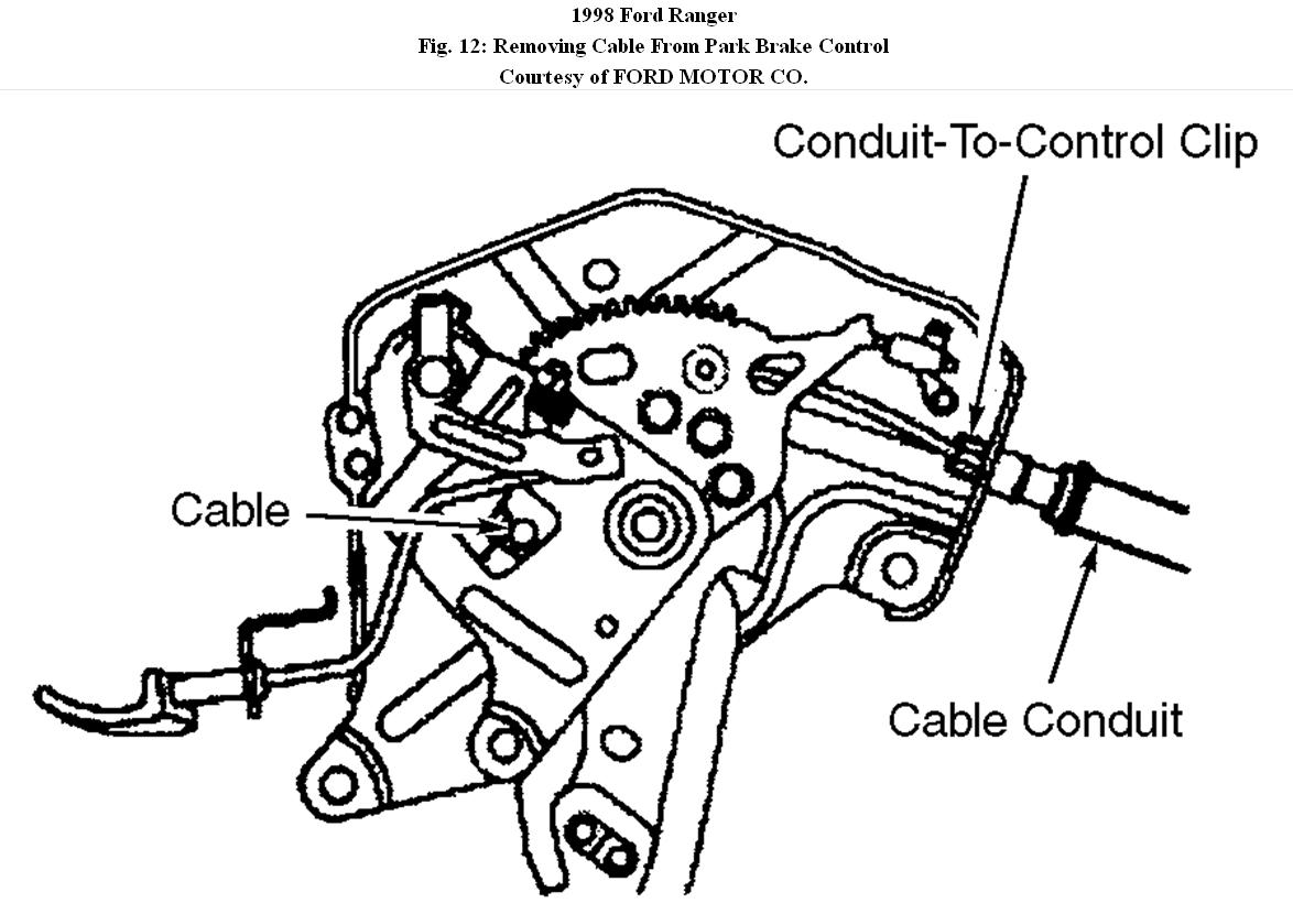 2000 ford ranger rear brake diagram xtrons radio wiring front cable replacement how do you disconnect the