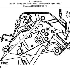 2000 Ford Ranger Rear Brake Diagram Lancer Ex Wiring Front Cable Replacement How Do You Disconnect The