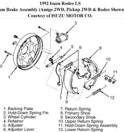 need to replace rear wheel cylinder is there a trick to removing isuzu rodeo wheel diagram [ 1414 x 815 Pixel ]