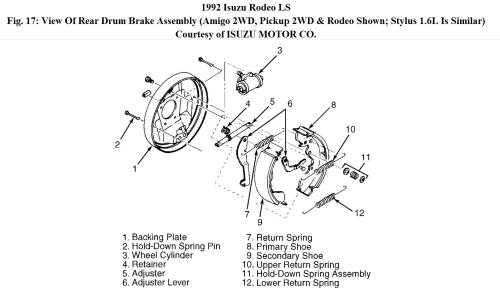 small resolution of need to replace rear wheel cylinder is there a trick to removing isuzu rodeo wheel diagram
