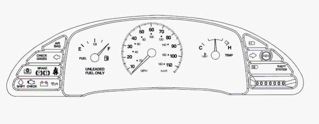 02 Cavalier Cluster With Tach Wire Diagram,Cluster