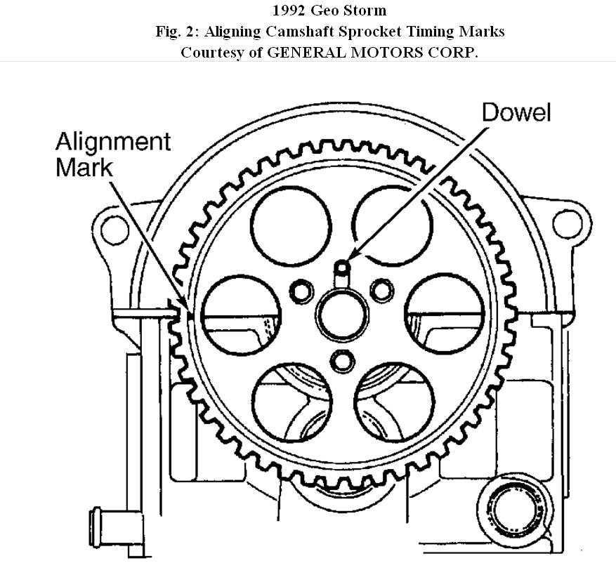 Service manual [1992 Geo Storm How To Set Timing